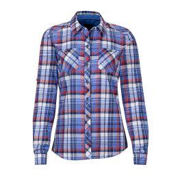 Dámská košile Marmot Wm's Lillian LS Velikost: XS / Barva: modrá