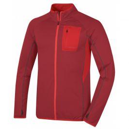 Pánská funkční mikina Husky Tarr zip Velikost: XXL / Barva: červená