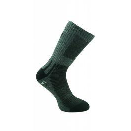 Ponožky Zulu Trekking Men Velikost ponožek: 35-38 / Barva: černá/šedá