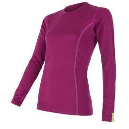 Dámské triko Sensor Merino Wool Active dl.r. Velikost: XL / Barva: lilla