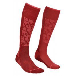 Dámské ponožky Ortovox W's Ski Compression Socks Velikost ponožek: 42-44 / Barva: vínová