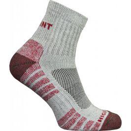 Dámské ponožky High Point Trek Lady Velikost ponožek: 35-37 / Barva: šedá/červená