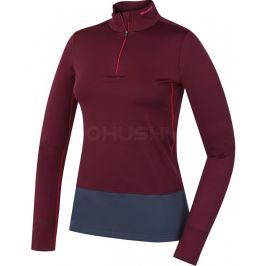 Dámské funkční triko Husky Active Winter zip dl.rukáv Velikost: XL / Barva: fialová
