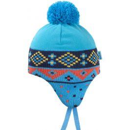 Dětská pletená Merino čepice Kama B72 Velikost: M / Barva: tyrkysová