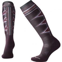 Dámské podkolenky Smartwool Phd Ski Light Pattern Women`s Velikost ponožek: 34-37 / Barva: fialová