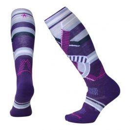 Dámské podkolenky Smartwool Phd Ski Medium Pattern Women`s Velikost ponožek: 42-45 / Barva: fialová