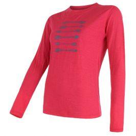 Dámské triko Sensor Merino Wool PT Šípy dl.r. Velikost: XL / Barva: magenta