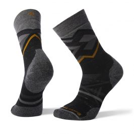 Ponožky Smartwool Phd Outdoor Medium Pattern Crew Velikost ponožek: 46-49 / Barva: černá/šedá
