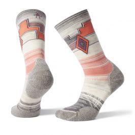 Dámské ponožky Smartwool PhD Outdoor Light Pattern Crew Velikost ponožek: 42-45 / Barva: šedá