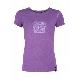 Dámské triko Chillaz Gandia Lettering Bus Velikost: M (38) / Barva: fialová