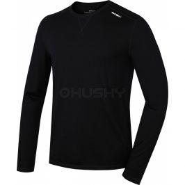 Pánské funkční triko Husky Merino dl.rukáv černé Velikost: XL / Barva: černá