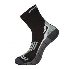 Ponožky Progress Running High Sox Velikost ponožek: 35-38 / Barva: černá/šedá