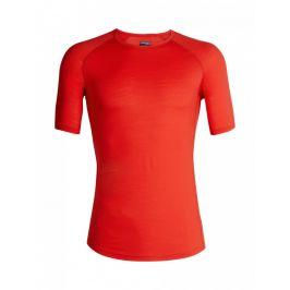 Pánské funkční triko Icebreaker 150 Zone SS Crewe Velikost: M / Barva: červená