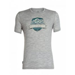 Pánské triko Icebreaker Tech Lite SS Crewe Cook Crest Velikost: XL / Barva: šedá