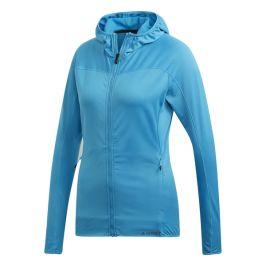 Dámská mikina Adidas Trace Rocker Hooded Fleece Velikost: S-M / Barva: modrá