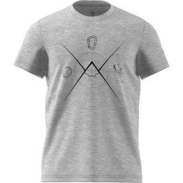 Pánské triko Adidas Ascend Tee Velikost: XL / Barva: šedá