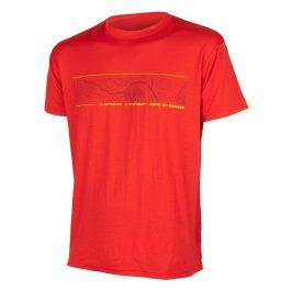 Pánské triko Sensor Merino Wool PT GPS Velikost: S / Barva: červená