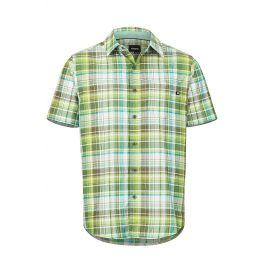 Pánská košile Marmot Syrocco SS Velikost: M / Barva: zelená/světle zelená