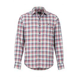 Pánská košile Marmot Aerofohn LS Velikost: XL / Barva: červená/modrá