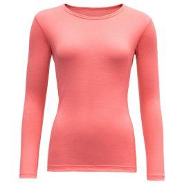 Dámské triko Devold Breeze Woman Shirt Velikost: L / Barva: korálová