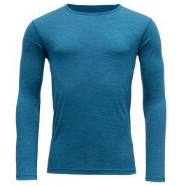 Pánské triko Devold Breeze Man Shirt Velikost: XL / Barva: modrá