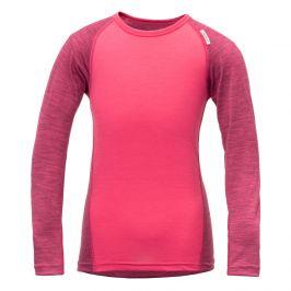 Dětské triko Devold Breeze Kid Shirt Dětská velikost: 92 (2) / Barva: růžová