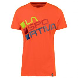 Pánské triko La Sportiva Square T-Shirt M Velikost: XL / Barva: oranžová