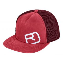 Kšiltovka Ortovox Trucker Logo Cap Obvod hlavy: 54 cm / Barva: červená