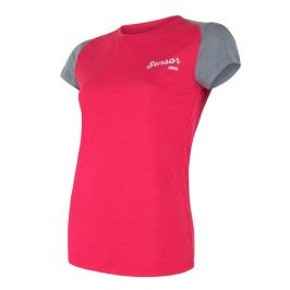 Dámské funkční triko Sensor Merino Active PT Logo Velikost: XL / Barva: růžová