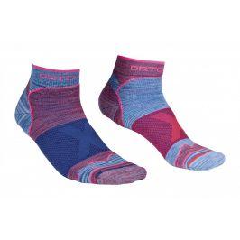 Dámské ponožky Ortovox Alpinist Low Socks W Velikost ponožek: 42-44 / Barva: červená/modrá