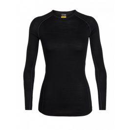 Dámské triko Icebreaker Women's 150 Zone LS Crewe Velikost: L / Barva: černá