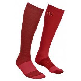 Dámské podkolenky Ortovox W's Tour Compression Socks Velikost ponožek: 35-38 / Barva: červená