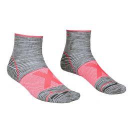 Dámské ponožky Ortovox Alpinist Quarter Socks W Velikost ponožek: 42-44 / Barva: šedá/růžová