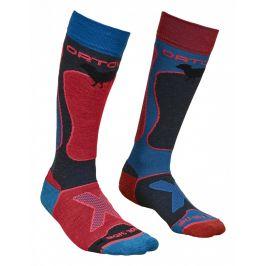 Dámské ponožky Ortovox W's Ski Rock'n'Wool Socks (2018) Velikost ponožek: 42-44 / Barva: růžová/modrá