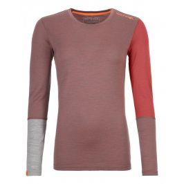 Dámské triko Ortovox 185 Rock'n'Wool Long Sleeve W Velikost: XS / Barva: červená/růžová