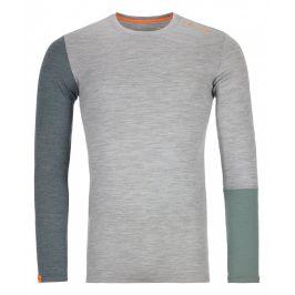 Pánské triko Ortovox 185 Rock'n'Wool Long Sleeve M Velikost: S / Barva: světle šedá