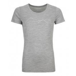 Dámské triko Ortovox 185 Merino Mountain Ts W Velikost: XS / Barva: šedá