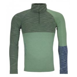 Pánské triko Ortovox 230 Merino Competition Zip Neck M Velikost: L / Barva: zelená