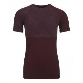 Dámské triko Ortovox Merino Competition Short Sleeve W Velikost: XS / Barva: vínová