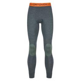 Pánské spodky Ortovox 185 Rock'n'Wool Long Pants M Velikost: XL / Barva: zelená