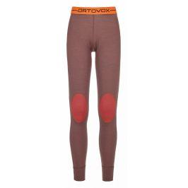 Dámské spodky Ortovox 185 Rock'n'Wool Long Pants W Velikost: XS / Barva: červená