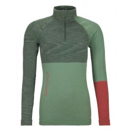 Dámské triko Ortovox 230 Merino Competition Zip Neck W Velikost: XS / Barva: zelená