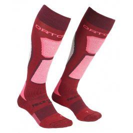 Dámské ponožky Ortovox W's Ski Rock'n'Wool Socks Velikost ponožek: 35-38 / Barva: červená/růžová