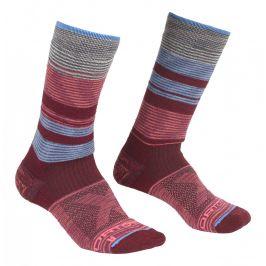 Ponožky Ortovox All Mountain Mid Socks Warm W Velikost ponožek: 35-38 / Barva: vínová