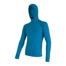 Pánské funkční triko Sensor Merino DF s kapucí Velikost: XXL / Barva: modrá