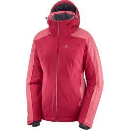 Dámská bunda Salomon Brilliant Jkt Velikost: S / Barva: růžová