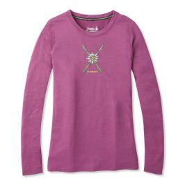 Dámské triko Smartwool W Merino Sport 150 Powder Flower Ls Tee Velikost: S / Barva: růžová