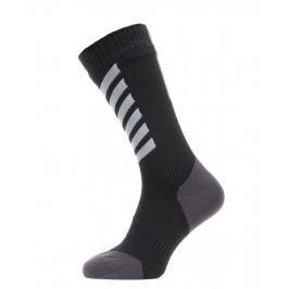 Nepromokavé ponožky Sealskinz WP All Weather Mid Hydrostop Velikost ponožek: 47-49 / Barva: černá/šedá