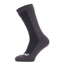 Nepromokavé ponožky Sealskinz WP Cold Weather Mid Velikost ponožek: 43-46 / Barva: černá/šedá