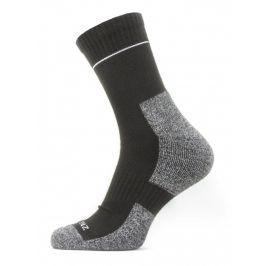 Ponožky Sealskinz Solo QuickDry Ankle Velikost ponožek: 36-38 / Barva: černá/šedá